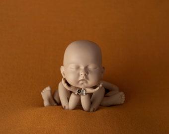 MARGO Merino Mustard Yellow Newborn Photography Posing Beanbag Fabric, Mustard Yellow Newborn Photography Photo Prop