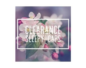 Clearance Sleepy Caps, Newborn Knotted Sleepy Hat Neutral Sets, Sleepy Cap , Newborn Photo Props, Newborn, Newborn Photography Hat Prop