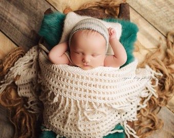 Jade Natural Dyed Fur Newborn Posing Photography Prop, Newborn Fur Prop, Newborn Basket Filler Prop, Posing Fur Prop, Jade Newborn