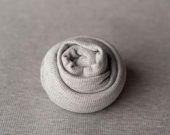 Medium Gray Textured Grid Wrap and Posing Set Newborn Photo Prop, Newborn Fringe Knit Wrap, Knit Stretch Wrap, Grid Wrap, Gray Set