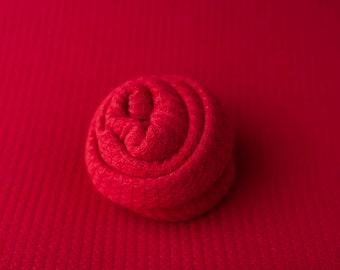 BILLIE- Red Newborn Waffle Texture Grid Wrap Posing Fabric Set Newborn Photo Prop/ Newborn Fringe Knit Wrap/ Red Waffle Stretch Wrap