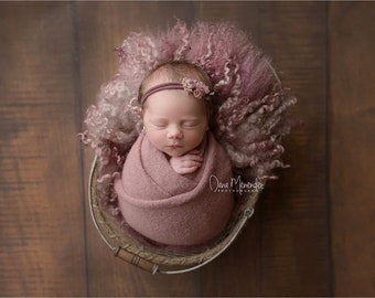 Mauve Pink Stretch Sweater Wrap Photography Photo Prop, Crepe Pink Stretch Sweater Wrap, Newborn Wrap, Newborn Wrap, Newborn Photo Prop