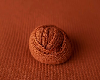 Copper Newborn Weave Texture Grid Wrap Newborn Photo Prop, Newborn Fringe Knit Wrap, Knit Stretch Wrap, Grid Wrap, Burnt Orange Fabric