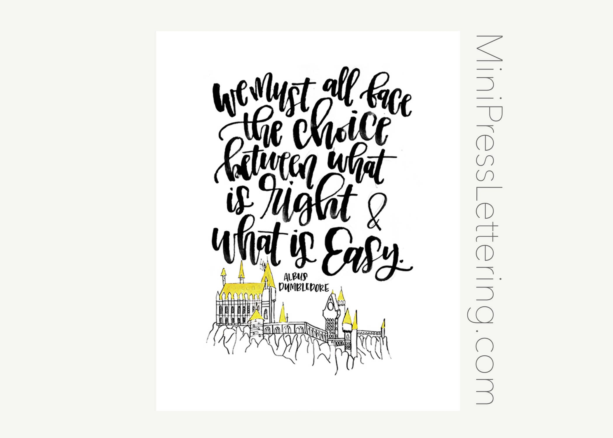 instant download harry potter quote printable we must all | etsy