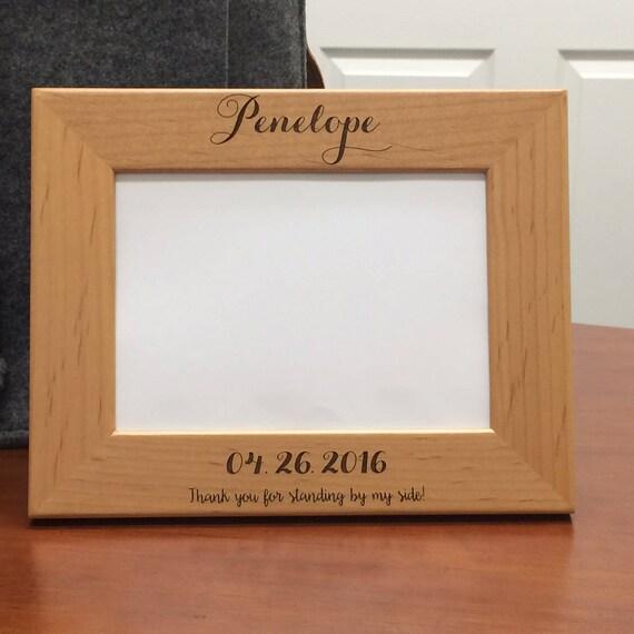 Wedding Party Engraved Wood Frame Wedding Party Gift Wedding | Etsy