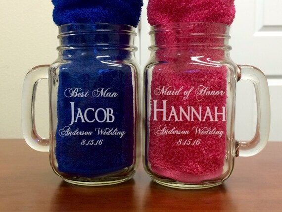 Unique Wedding Gifts Canada: Personalized Mason Jar Wedding Party Gifts Groomsmen Gifts