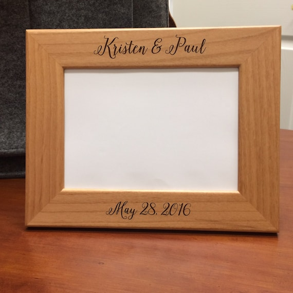 Custom Engraved Wood Frame Personalized Wedding Frame Wedding Gift Brides Gift Personalized Picture Frame Anniversary Gift