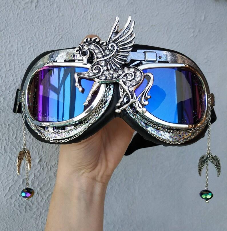 b63ab9b2fe6 Rave goggles Inspirational Ski Fi Costume Festival Flying