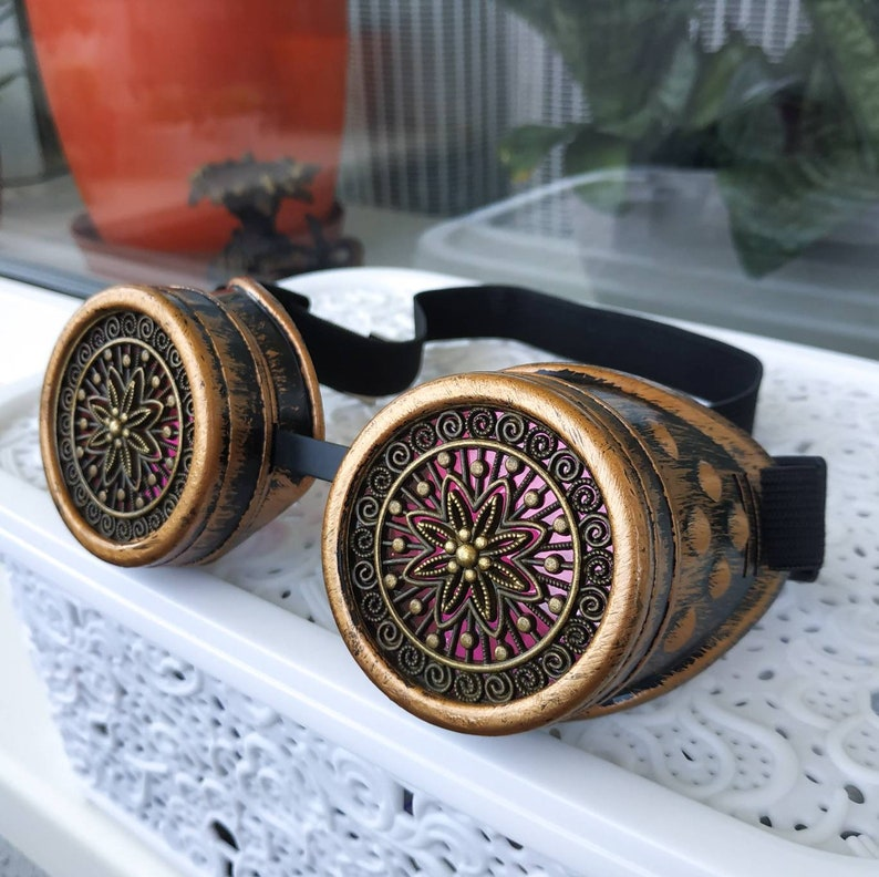 Steampunk Monocle Goggles Punk Biker Rave Goth Victorian Custome gift
