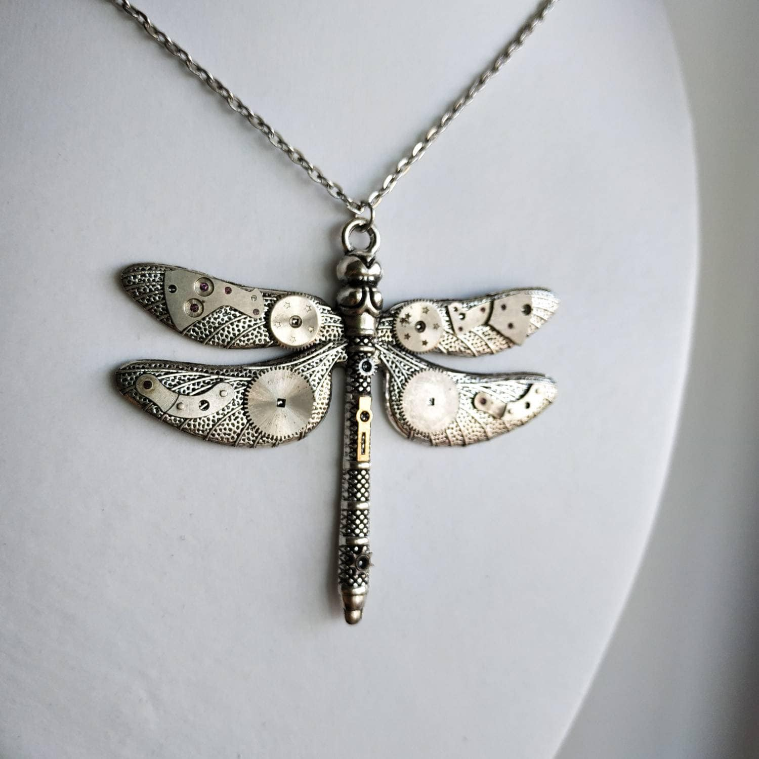Dragon fly Necklace Insect Jewelry Whimsical Dragonflies Glass Necklaces Tear Drop Pendant Dragonfly Tear drop Necklace,Steampunk