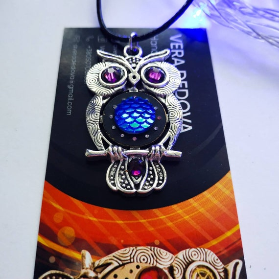 Owl jewelry Unique Gift Whimsical necklace Original jewelry Steampunk pendant Unusual Bird Steam punk Christmas gifts for friends women men