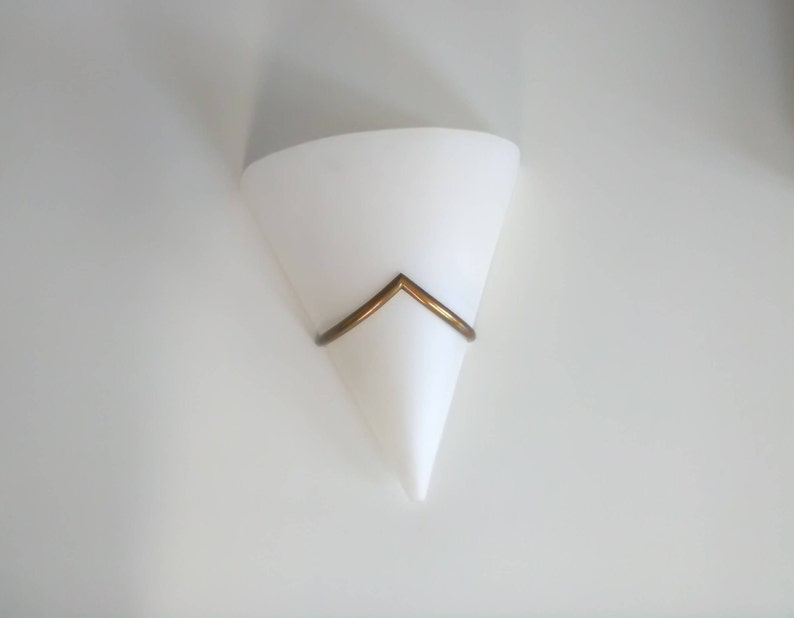 Vintage wall lamp white glass vintage white and gold applique etsy