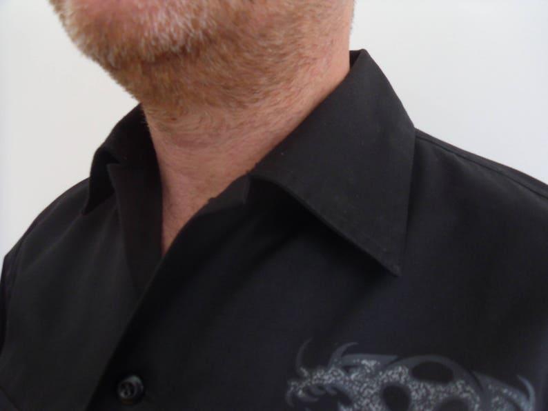 Black man shirt with dragonJapanese shirtgift for him