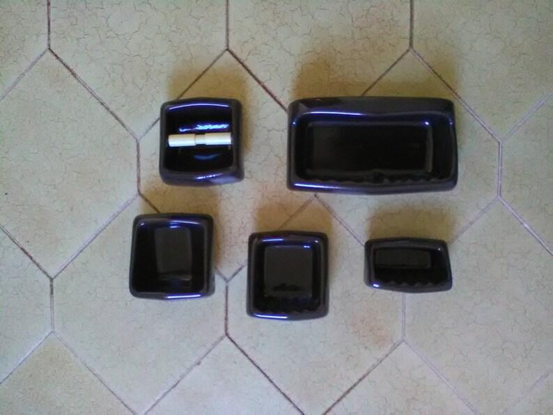 Accessori Bagno Marrone : Vintage kit bagno porcellana marrone antichi accessori per etsy