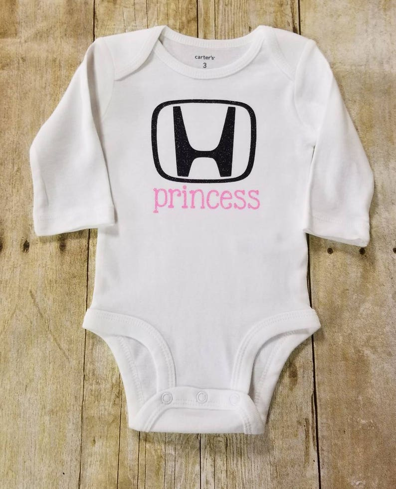 71570efb4 Honda Princess Bodysuit Baby Girl Honda Outfit Glitter | Etsy