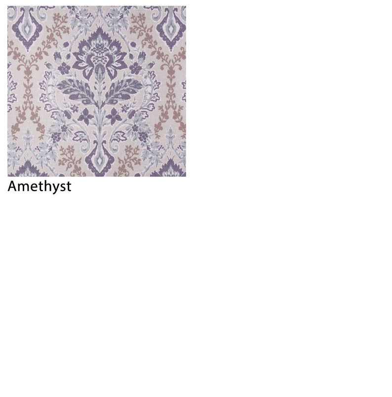 Custom Euro Pleat Curtain Drapery Panels Premier Prints Brussels Pinch Floral Scroll; Blue Purple Priced Per Pair French Pleat
