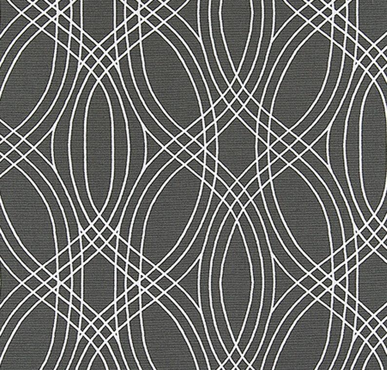 Scott Living Premier Prints Bargello Invisible Rod Pocket Contrast Piping Black Green Custom Faux Cornice Valance Blue Fake Pelmet