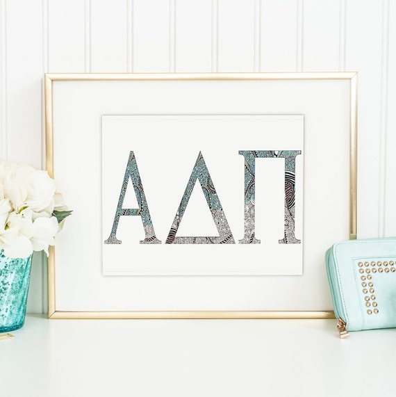 Greek Alphabet Poster 24x36 inch rolled wall poster
