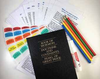 TOPIC Tab KIT --for a DIY Scripture book / great for gifts, baptisms, missionaries, family reference, new converts, youth, seminary book...