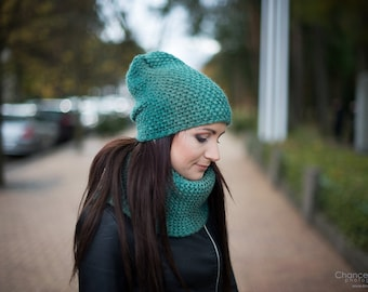5e91ff61887 Slouchy Hat and Scarf Set