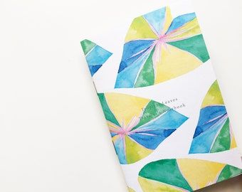 Tropical Leaves Notebook , travelers notebook insert ,TN personal, Foxy notebook, Pocket, Standard, Passport, Diary, A5, A6, B6, Midori