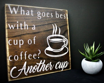 Coffee Sign. Coffee Signs for Kitchen. Gift for Her. Gift for Him. Coffee Lover Gift. Coffee Decor. Coffee Bar Sign. Wood Coffee Sign.