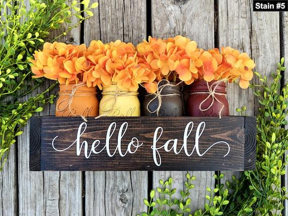Fallen Sie Maurer Gläser. Herbst Herzstück. Thanksgiving | Etsy
