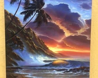 Never Ending Sunset - Robert Thomas - 5x7 Plaque
