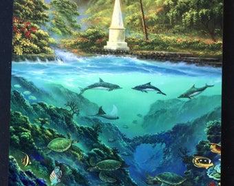 Captain Cook Monument - Robert Thomas - Painting Plaque - 5x7
