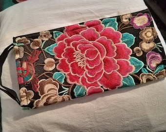 Hand Embroidered Clutch Wallet
