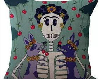 "Frida Kahlo Pillow Case 17"" x 17"""