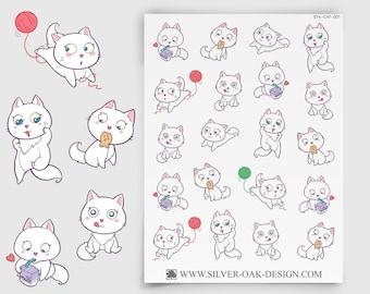 CAT-001   Bella Kitty Cat Kawaii Planner Stickers