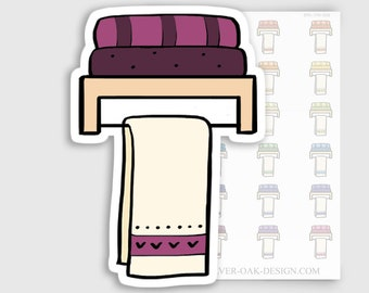 ITM-033 | Bathroom Towels Planner Stickers