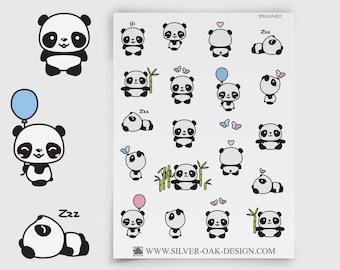 LLP-021   Cute Kawaii Panda Planner Stickers