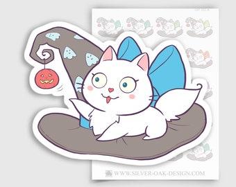 CAT-032-B   Bella Kitty Cat Kawaii Halloween / Trick or Treat Planner Stickers