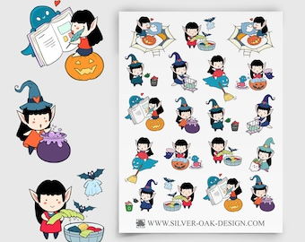 WLW-001 | Willow the Witch Cleaning / Chores / Housework Planner Stickers