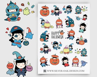 WLW-012 | Willow the Witch Halloween Planner Stickers