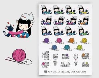 WLW-011 | Willow the Witch Knitting Planner Stickers