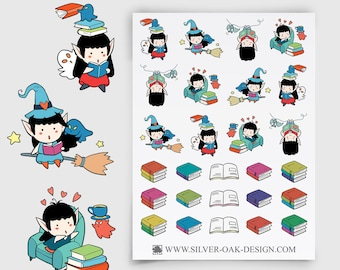 WLW-008 | Willow the Witch Book Reading Planner Stickers