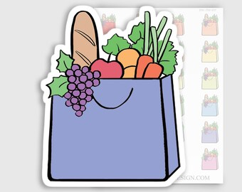 ITM-017 | Grocery Bag Planner Stickers