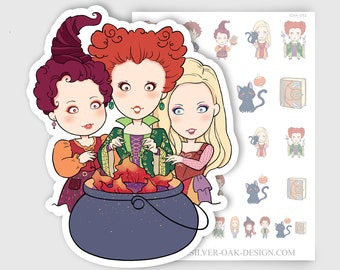 CHA-013   Abracadabra Three Witches and Magic Planner Stickers
