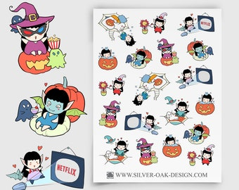 WLW-002 | Willow the Witch Self Care and Relaxation Planner Stickers