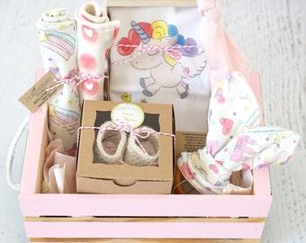 Baby Girl Gift Basket Etsy