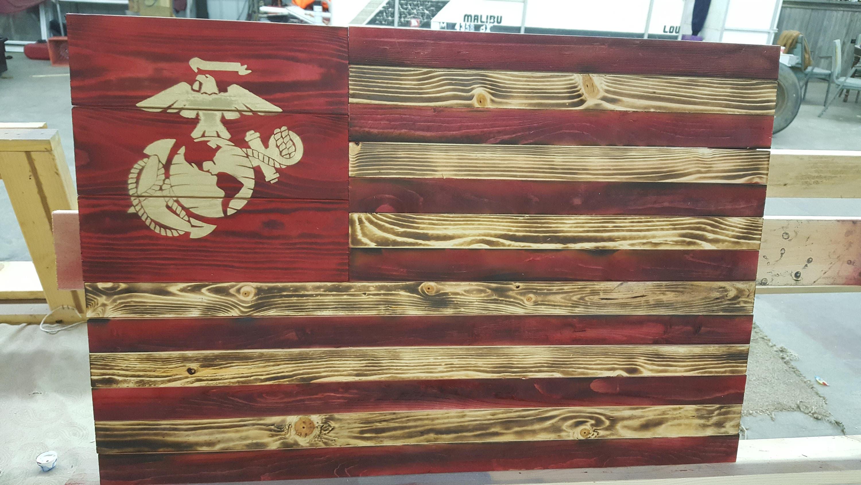 Handmade Rustic Reclaimed Pallet Wood United States Marine ...