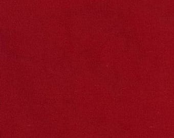 Red Corduroy Fabric by the yard, Christmas Red 21 wale featherweight corduroy, Robert Kaufman Fabric, 100% cotton