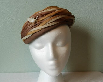 1950s Duby New York Hat; Famous-Barr Co.
