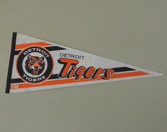 80s/90s Detroit Tigers Baseball Pennant