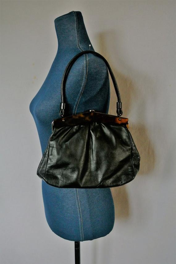 Stix, Baer & Fuller Black Handbag; Made in England