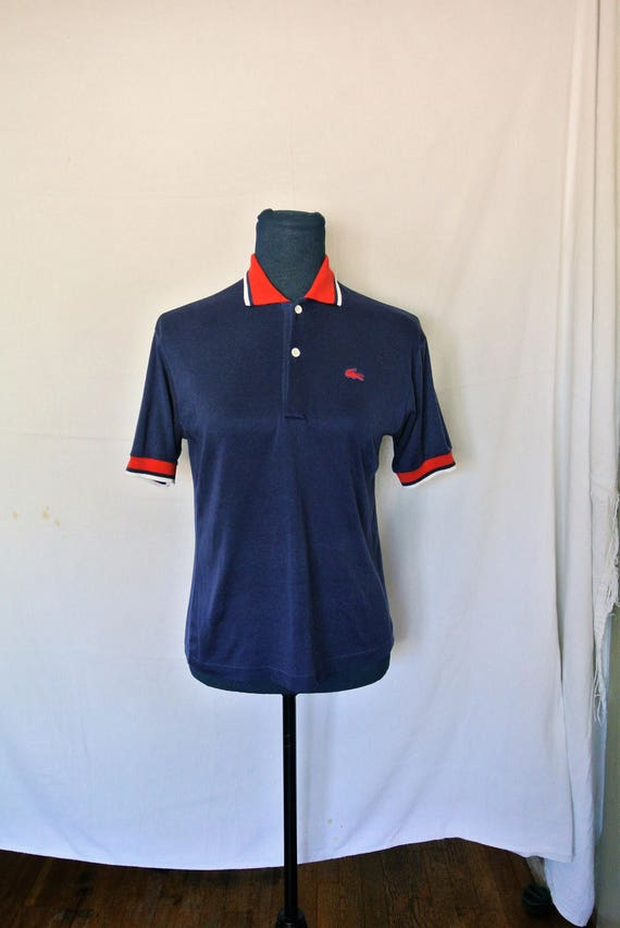 1ffffe5bed Polo Lacoste Vintage bleu marine | Etsy