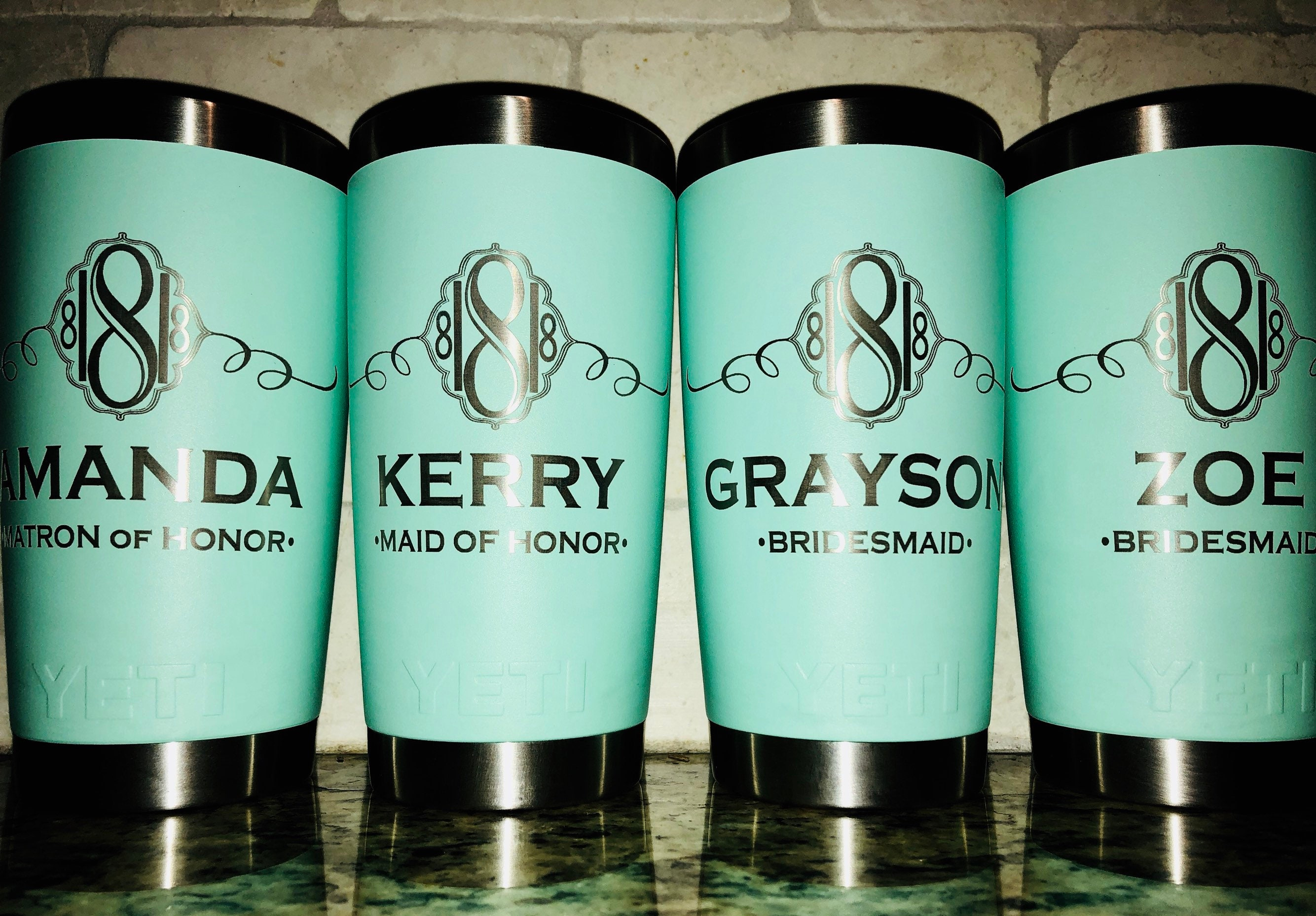 Engraved YETI Rambler Bridesmaid Gifts Bachelorette Party